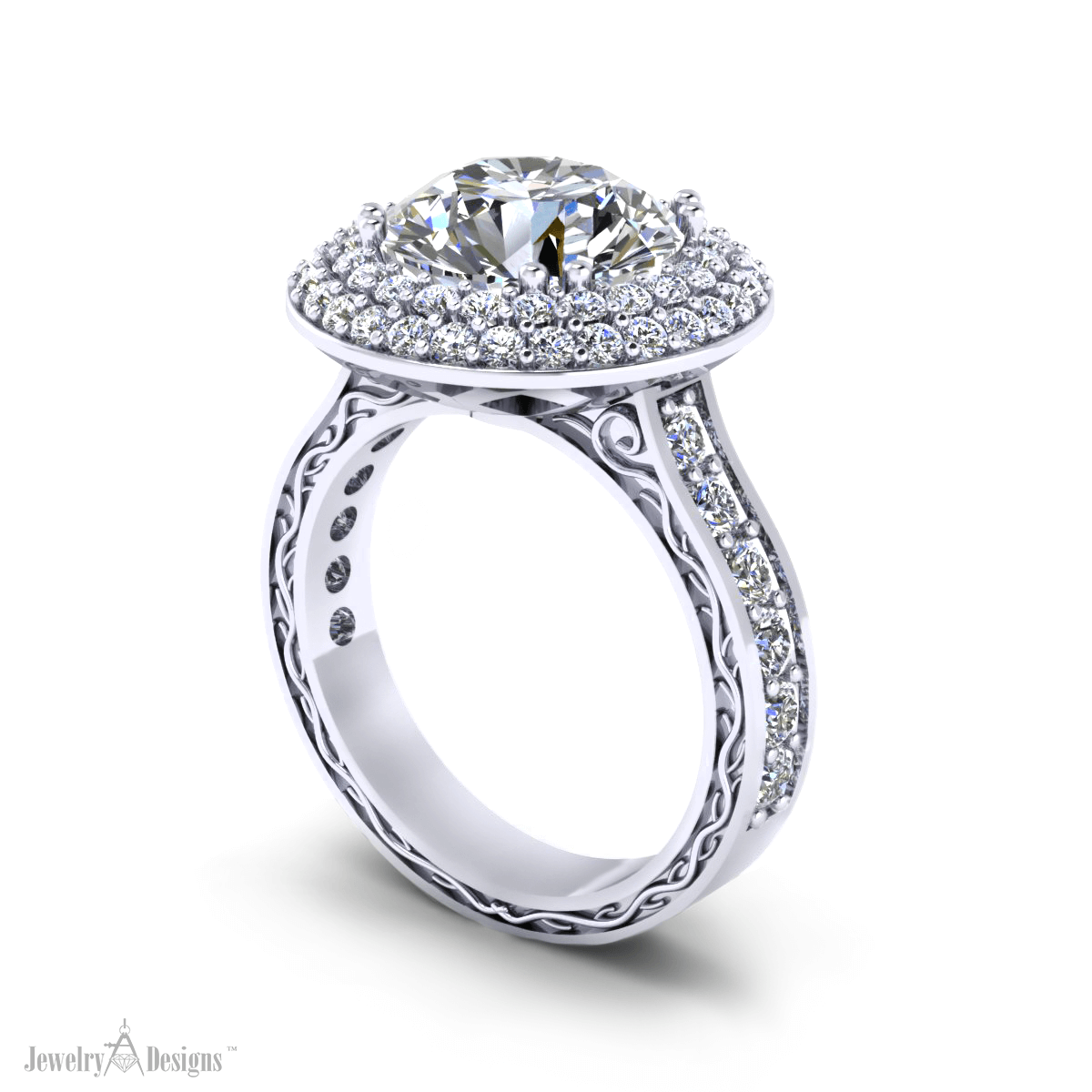c150577 Ornate Diamond Ring