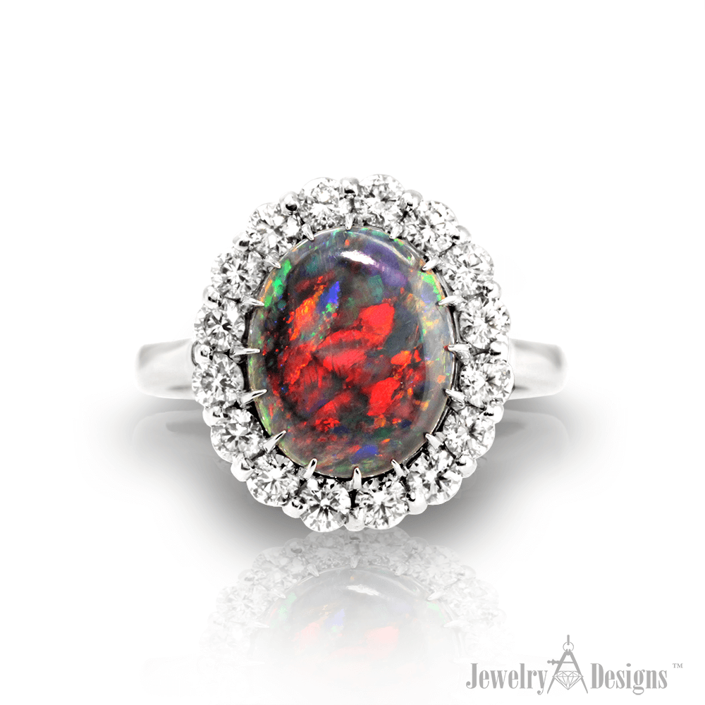 CC120-1 Red Opal Ring