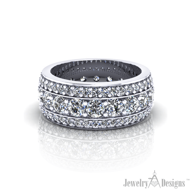 WD312-1 Wide Eternity Band