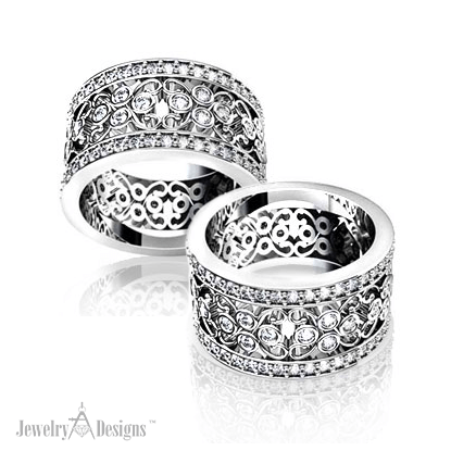 C138476 Diamond Lace Wedding Ring