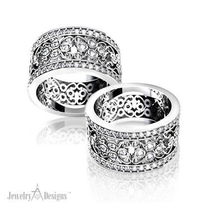 C138476 Diamond Lace Wedding Ring