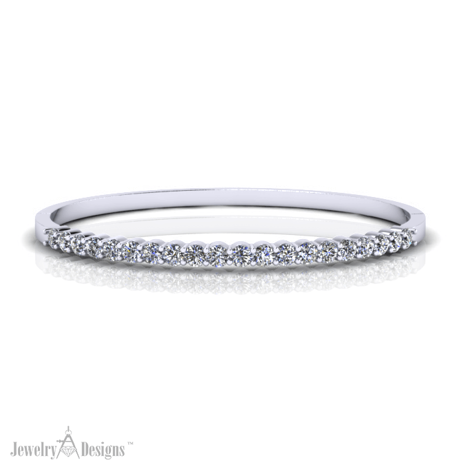 12-20BD096-H Simple Diamond Bangle