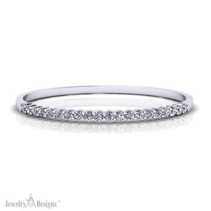 12-20BD096-H Simple Diamond Bangle