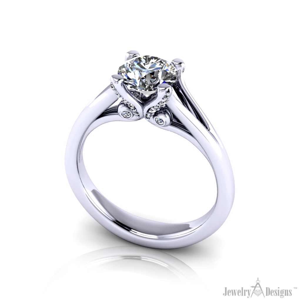 12-22CAD275-HT3 Graceful Engagement Ring
