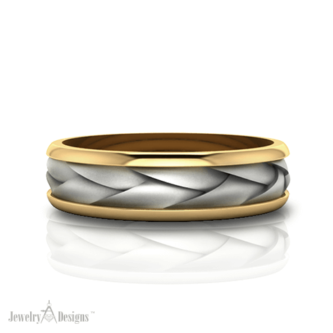C150163 Two Tone Braided Band