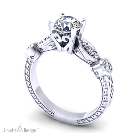 C150660 4 Prong Engagement Ring