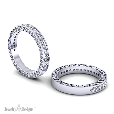 C151121 Diamond Stacking Bands