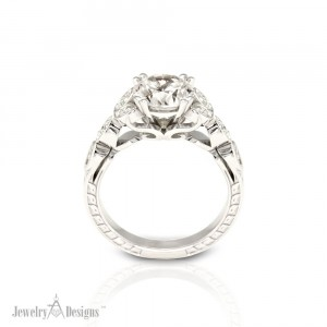 Detailed Engagement Ring