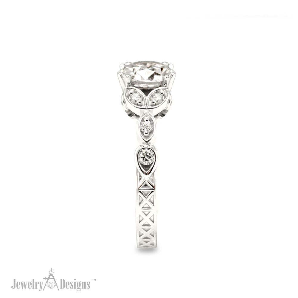Detailed Engagement Ring Side