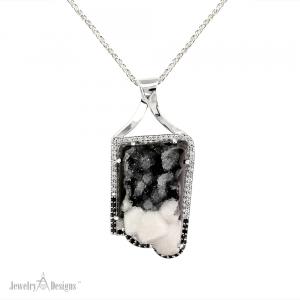 Black and White Drusy front