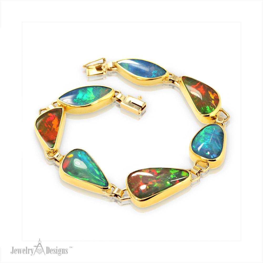 BC056-1 Gold Opal Bracelet