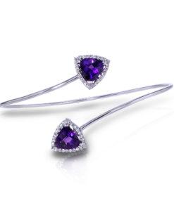 Diamond Amethyst Bracelet