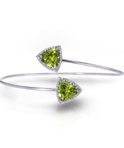 Diamond Peridot Bracelet