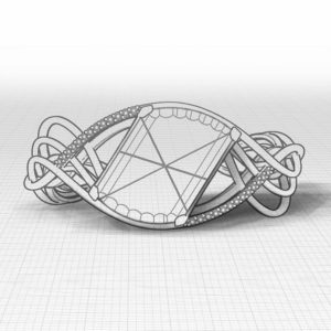 Woven Ametrine Diamond Bracelet