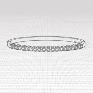 Aquamarine Bangle Bracelet