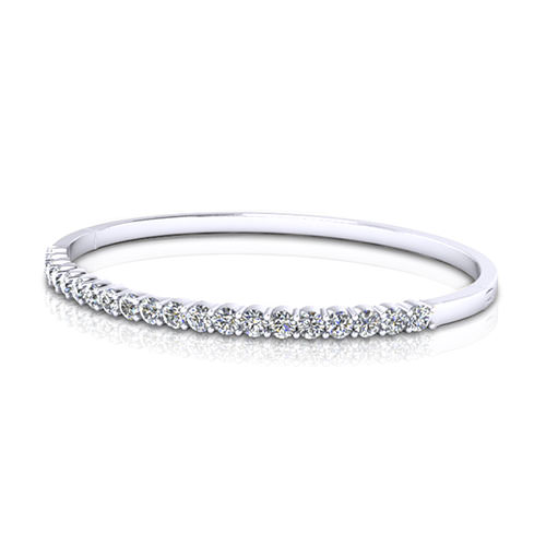 Hinged Diamond Bangle Bracelet