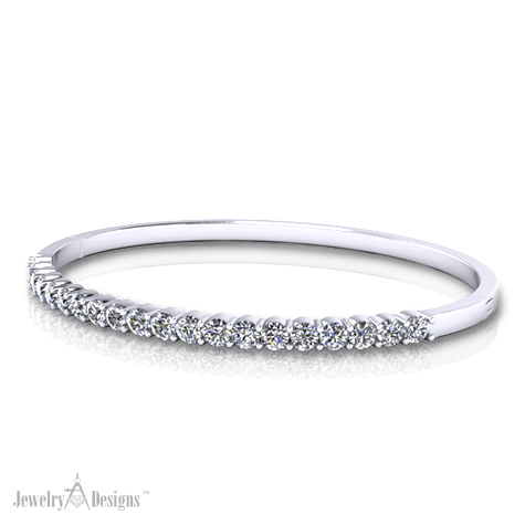 Simple Diamond Bangle Bracelet
