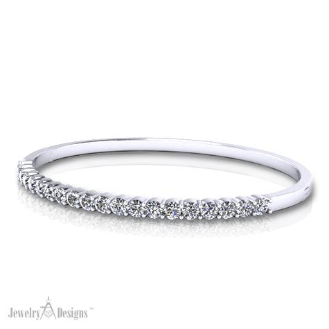 Simple Diamond Bangle Bracelet