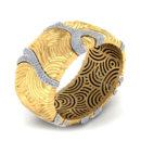 BD193-1-Wide Diamond Bangle Bracelet