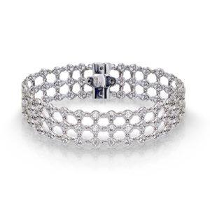 Linked Bezel Diamond Bracelet