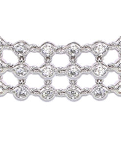 Linked Bezel Diamond Bracelet
