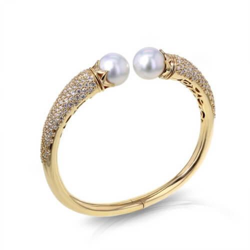 Pearl Bangle Bracelet