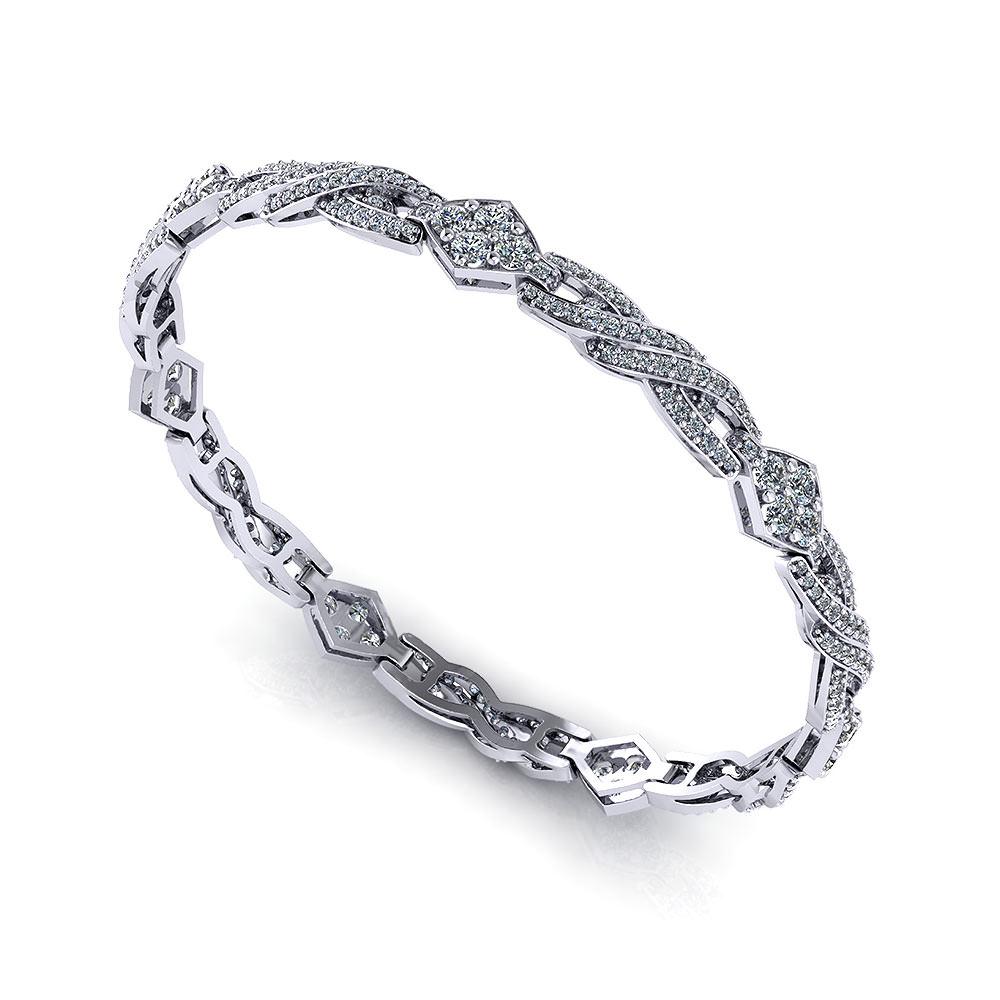 Pave Link Diamond Bracelet