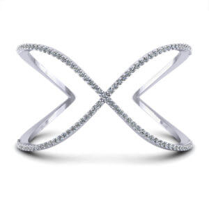 Crossover Diamond Bangle Bracelet