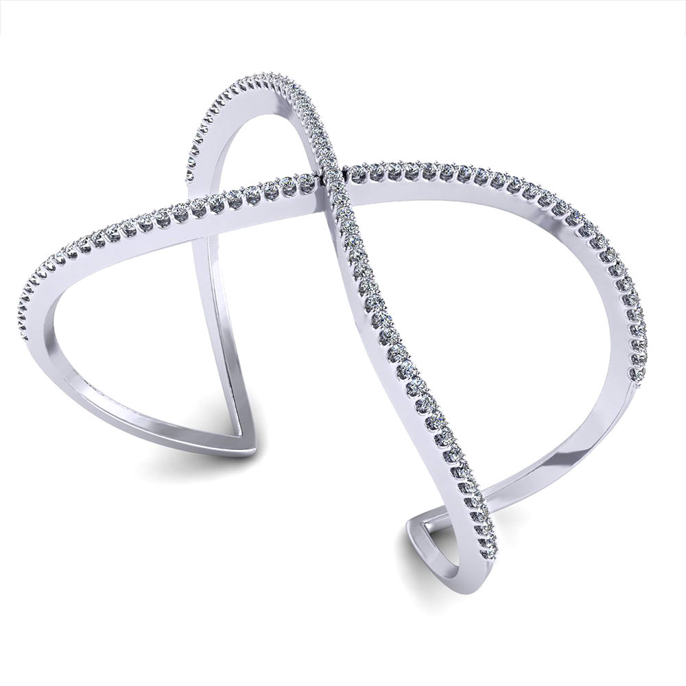cuff bangle bracelet designscrossover diamond bangle