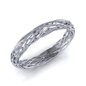 Woven Diamond Bangle Bracelet