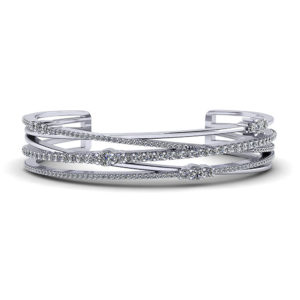 Crossover Diamond Cuff Bracelet