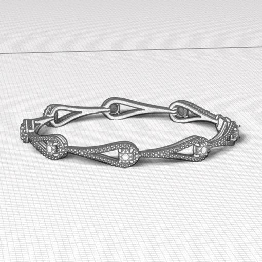 Diamond Ruby Link Bracelet