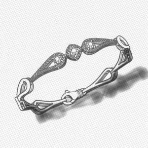 Halo Sapphire Bracelet