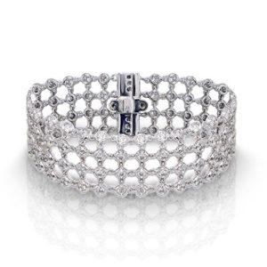 Wide Diamond Bezel Bracelet