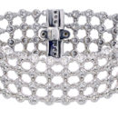 Wide Diamond Bezel Bracelet