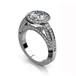 Round Engagement Ring Halo