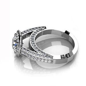 Round Engagement Ring Halo
