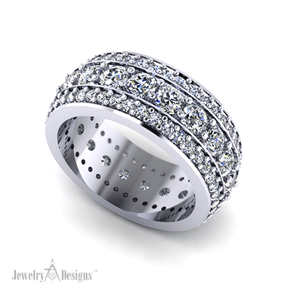 C139759 Platinum Diamond Band