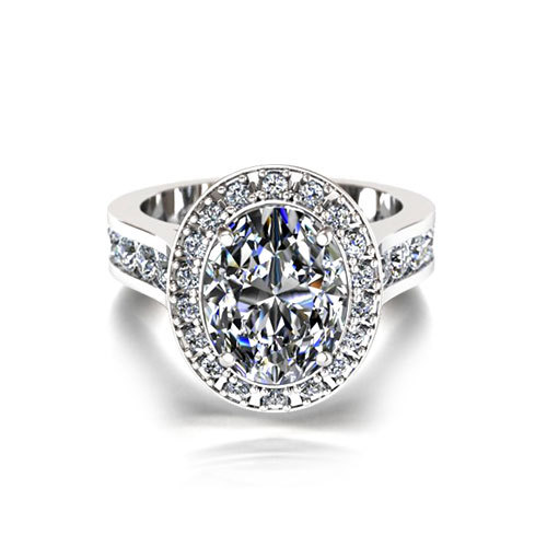 Oval Halo Engagement Ring Jewelry Designs