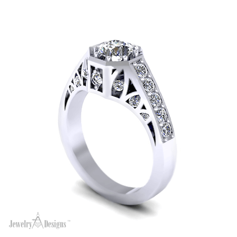 C143326 Non Traditional Engagement Ring