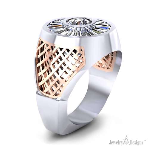 C144269-1 Man's Diamond Baguette Ring