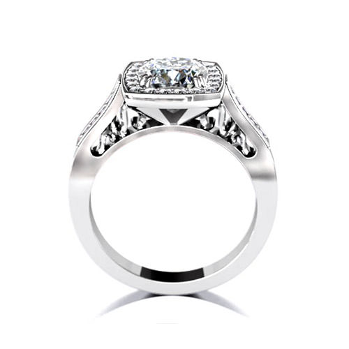 Square Halo Engagement Ring