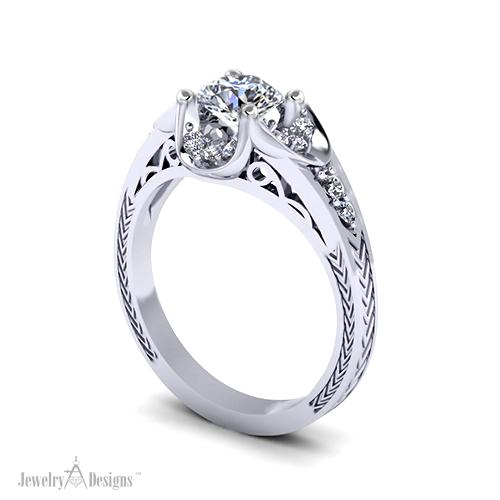 C146497 Vintage Engagement Ring