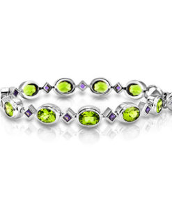 Peridot and Iolite Bracelet