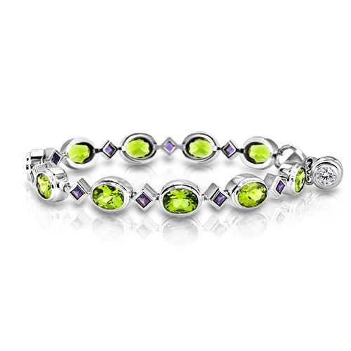 Peridot and Iolite Bracelet