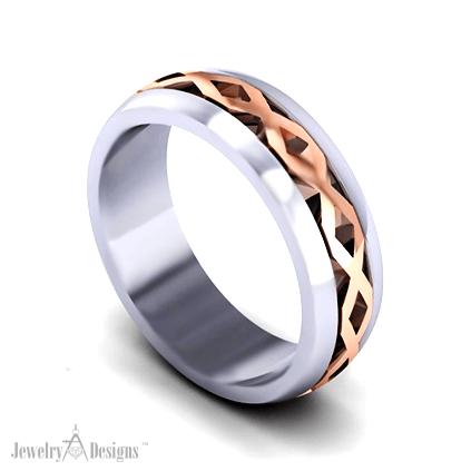 C151208 Crossover Wedding Ring