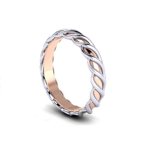 White Rose Gold Wedding Ring