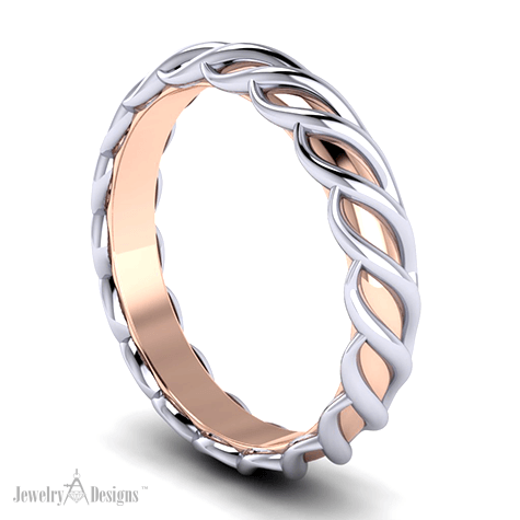 Band With Rose Gold