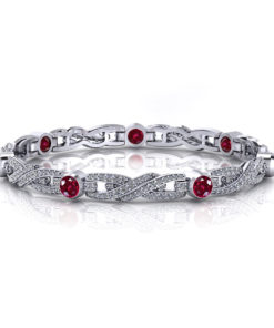 Ruby Crossover Tennis Bracelet