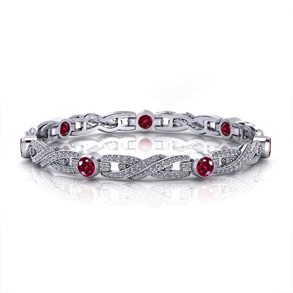 Ruby Crossover Tennis Bracelet